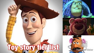 Toy story tier list