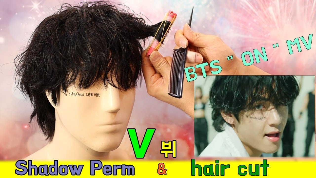 """Bts V Ë·"""" On Mv Shadow Perm Hair Cut Youtube"""