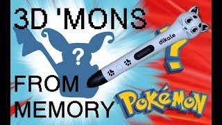 Drawing Pokémon from Memory in 3D!! |Dikale 3D Pen Unboxing+First Impressions