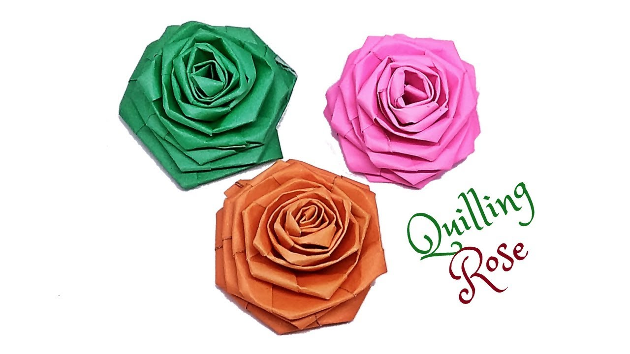 How To Make Paper Quilling Rose Tutorial Twisted Rose