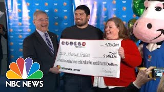Lottery Winner On $786 Million Prize: 'I Pretty Much Felt Lucky' | NBC News