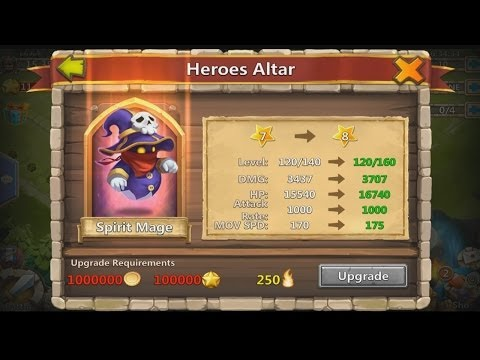 Castle Clash - 7 Star Spirit Mage (Upgrading Spirit Mage Finally)
