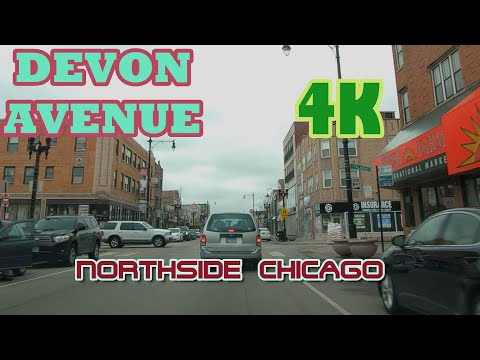 Devon Avenue Driving In Northside Chicago: 4K:  Streets Of The Americas
