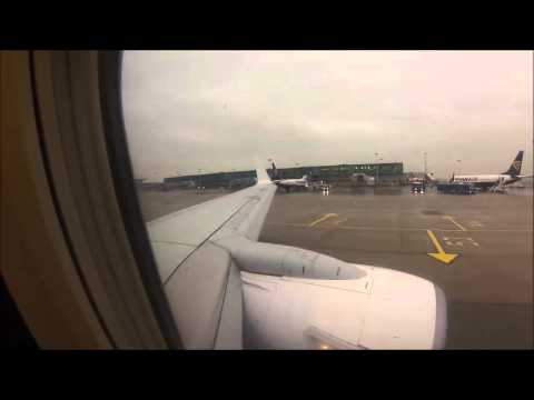 FR7961 Startup and Takeoff: London Stansted to Podgorica