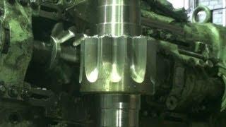 Изготовление Вал-шестерни М20 z10 станок модель 5342(Изготовление и нарезка зуба на вал-шестерне для кранов модуль 20,количество зубьев 10. Строгание зуба коничка..., 2013-05-26T10:48:05.000Z)