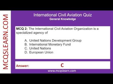 International Civil Aviation Organization Quiz - MCQsLearn Free Videos