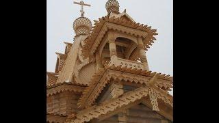 Как сделать макет деревянной церкви.Макет из зубочисток.