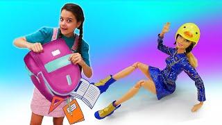 Видео про куклы. Салон красоты Браби. Кукла Барби не хочет собираться в школу? Игры в куклы девочкам