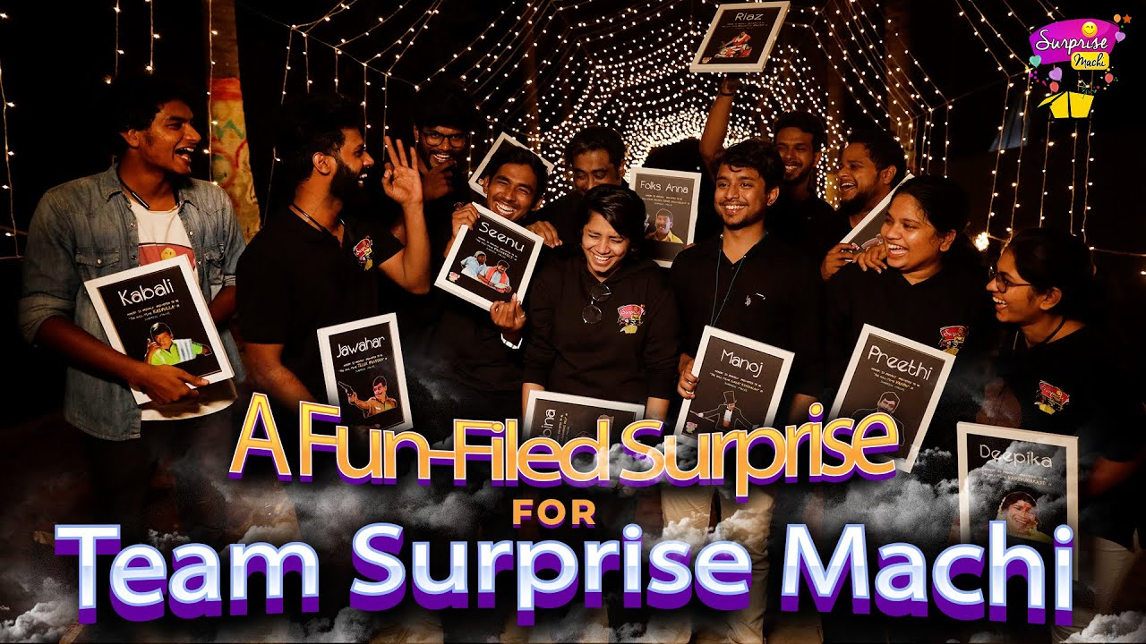 Emotional Surprise to the Team Surprise Machi | Best Day Ever | Chennai