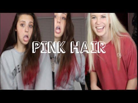 DIP DYING MY HAIR PINK w Sarah Logan !