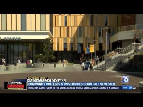XETV-SD: Community Colleges and Universities Begin Fall Semester
