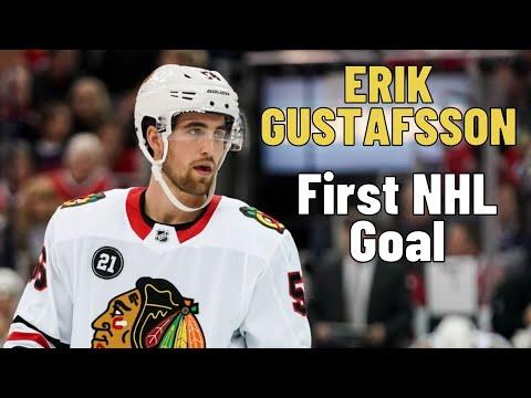Erik Gustafsson #56 (Chicago Blackhawks) first NHL goal 20.01.2018
