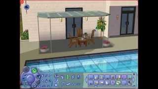 Construction et Déco - Maison moderne avec piscine (Sims 2)