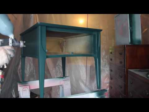 Painting Furniture with a HVLP Spray Gun