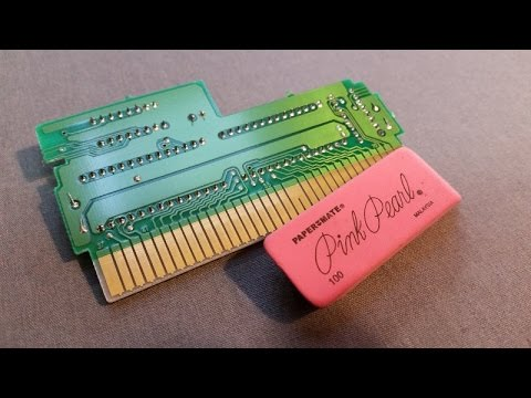 How to Clean A Nintendo Cartridge's Contacts Using The Eraser Method