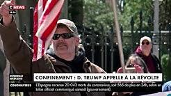 Confinement : Donald Trump appelle à la révolte