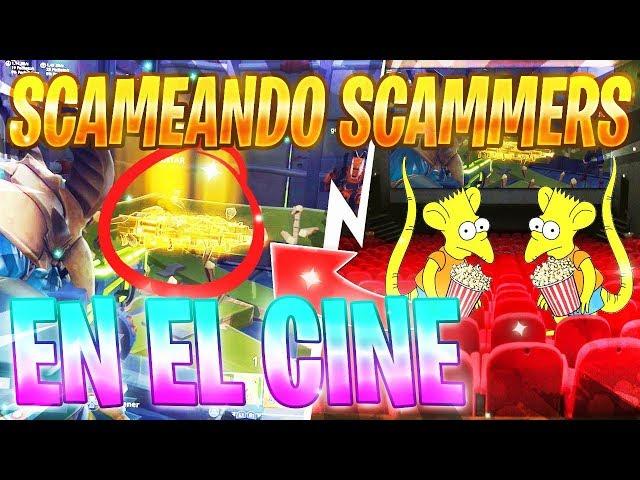 SCAMEO A SCAMERS EN UN CINE!!! (+1000 PULGADAS)????