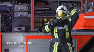 Feuerwehrhelm Gallet F1 Xf: Anlegevorgang Und Einstellung Des Zubehörs