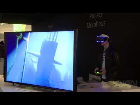 Fighting VR Sharks with PlayStation' s Project Morpheus   Gamescom 2014