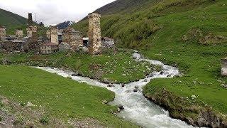 Journey from Ushguli to Mestia, Georgia