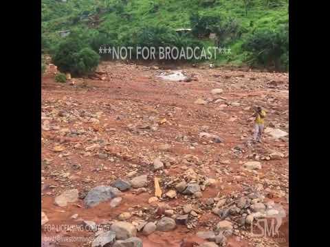 08-18-2017 Freetown, Sierra Leone - Devastating Aftermath From Massive Mudslide & Flooding