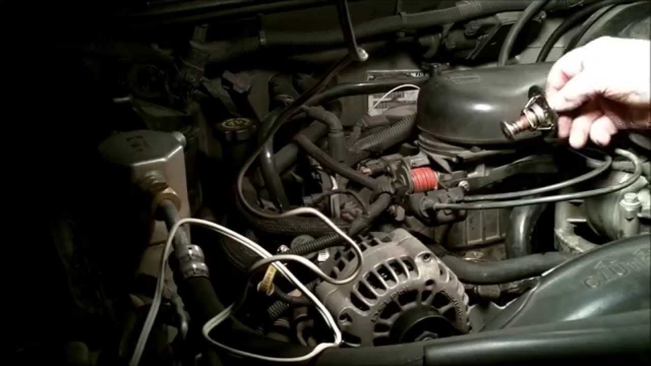 1996-2005 chevy blazer 4 3 v6 vortec p0128 coolant temp below threshold and  how to fix - youtube