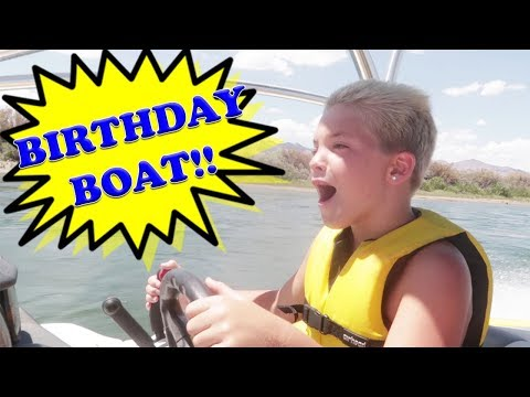 ROCCO GETS A BOAT FOR HIS BIRTHDAY!