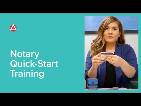 Notary Quick-Start Training