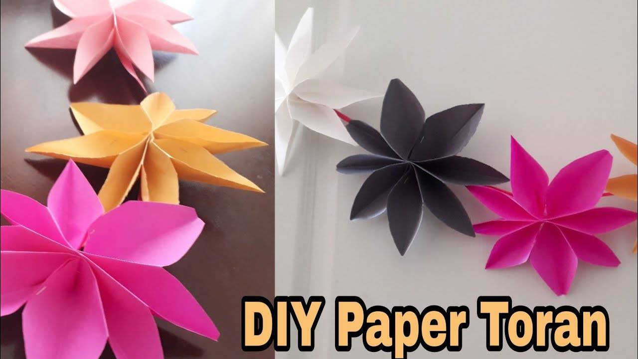 New Year 2019 Christmas Decoration Star Garland Paper Decoration Ideas Quicky Crafts