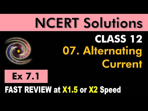 Class 12 Physics NCERT Solutions | Ex 7.1 Chapter 7 | Alternating Current by Ashish Arora