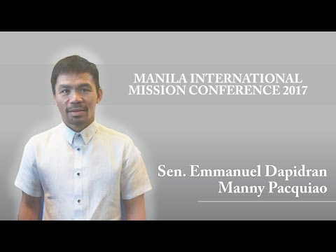 Manila International Mission Conference 2017 Manny Pacquiao