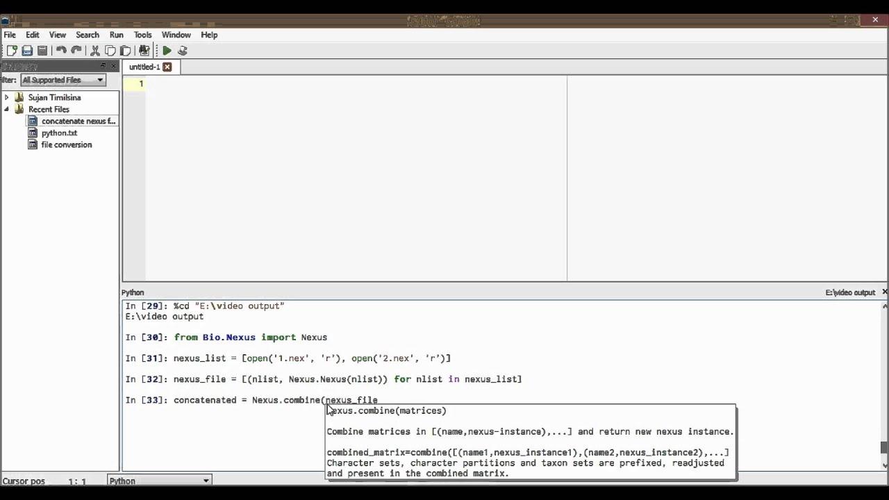 Biopython: concatenating nexus files