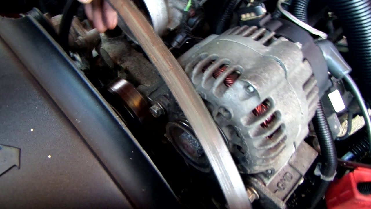 How to replace the serpentine belt in a Chevy truck - YouTube