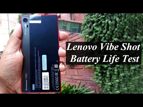 Lenovo Vibe Shot Battery Life Test : Exclusive || Pastimers