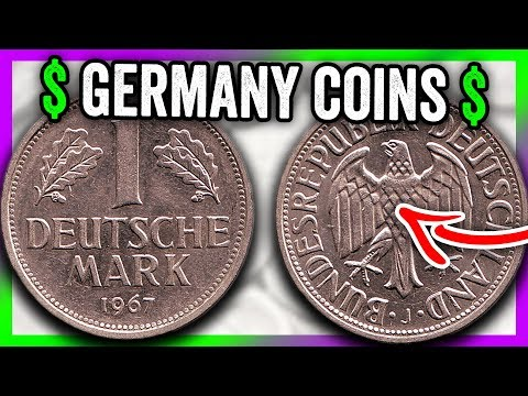 1 DEUTSCHE MARK COINS WORTH MONEY - GERMANY COINS TO LOOK FOR!!