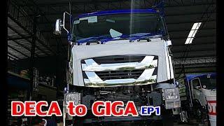 isuzu-giga-งานสร้างสิบล้อ-อู่อำพันการช่่าง-แปลงหน้าnew-fxz360-ให้เป็นnew-giga380-ep1