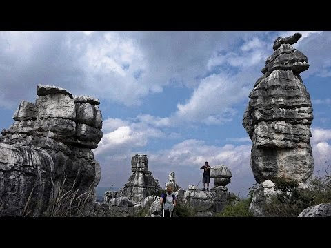 Stone Forest, Kunming, China In 4K (Ultra HD)
