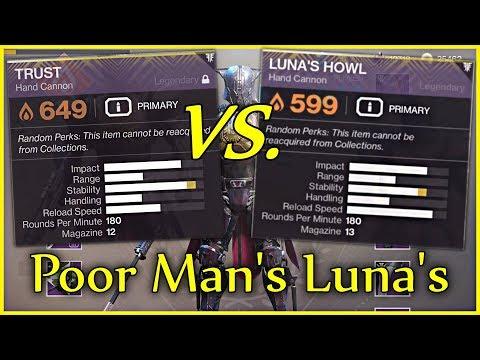 The Poor Man's Luna's Howl (Destiny 2 - God Roll Trust Hand Cannon) thumbnail