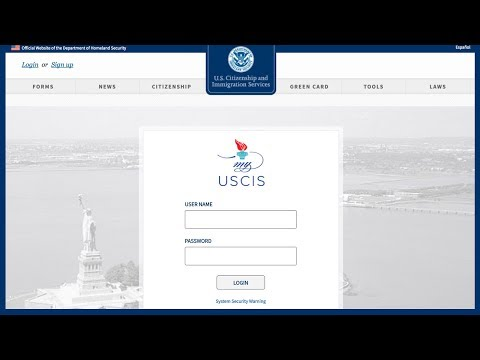 2017 How to check your immigration case status USCIS create an account on My USCIS