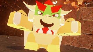 Super Mario Odyssey - LEGO Mario vs LEGO Bowser Final Boss + Ending
