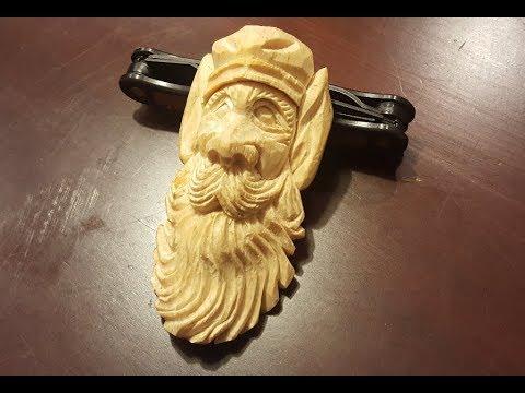 Wood Carving Elf - Christmas Tree Ornament