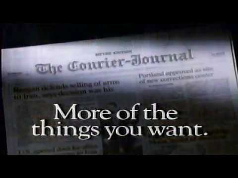 The Courier Journal Newspaper Louisville KY Commercial (1987)