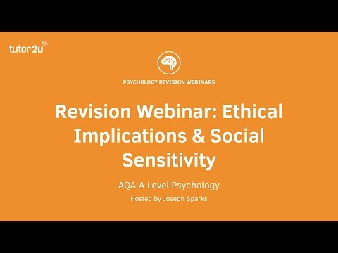Revision Webinar: Ethical Implications & Social Sensitivity