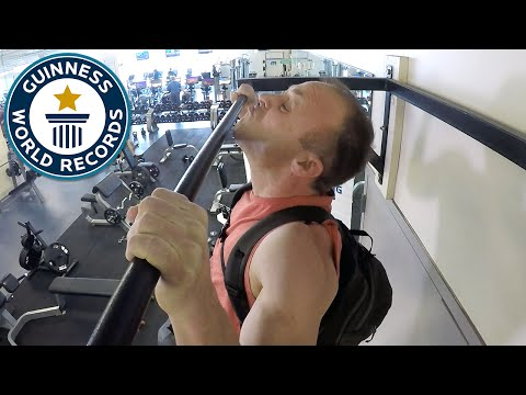 Most pull ups with a 60 lb  (27.2 kg) pack- Guinness World Records