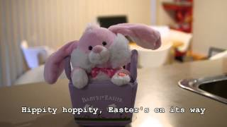 I think hear a bunny comin'bunny, where are you?here comes peter cottontailhoppin' down the trailhippity hoppity, easter's on its waybringin' every g...