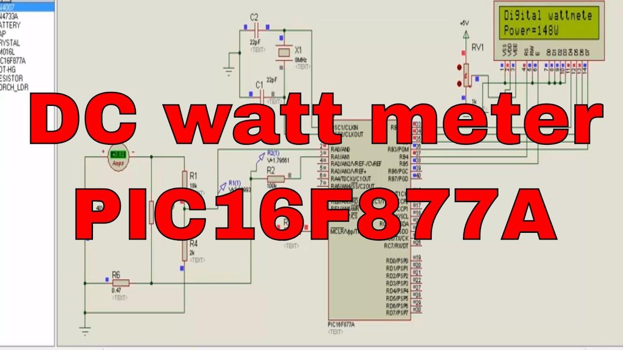 Digital Dc Watt Meter Using Microcontroller Youtube A Volt Voltmeter 8051