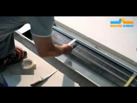 Монтаж внутрипольного конвектора. Инструкция