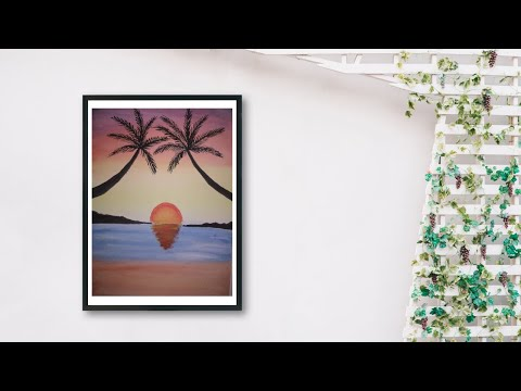 Sunrise Landscape Painting Tutorial Step by Step || Watercolor painting