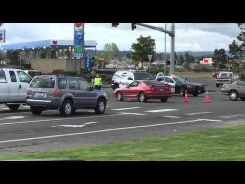 Chehalis three way car accident at Walmart