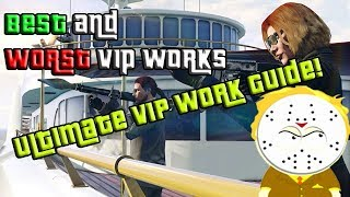 GTA Online What Is The Most Profitable VIP Work? Ultimate VIP Work Guide